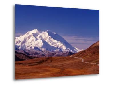 Mt. Denali from Stony Hill in Fall, Mt. McKinley, Alaska, USA-Charles Sleicher-Metal Print