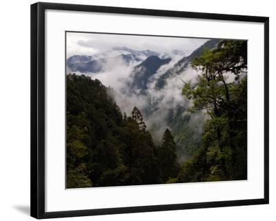 Traditional Home of the Lisu, Nu and Dulong Peoples, near Gongshan, China-Pete Oxford-Framed Photographic Print