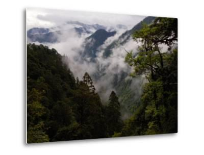Traditional Home of the Lisu, Nu and Dulong Peoples, near Gongshan, China-Pete Oxford-Metal Print