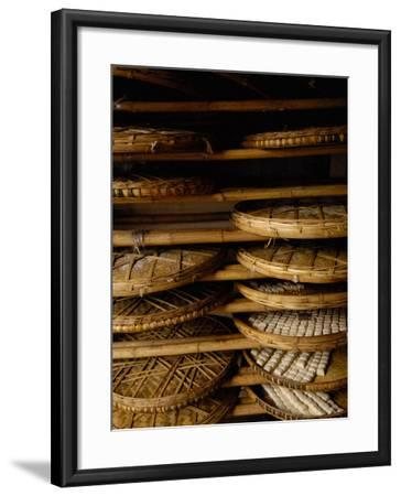 Sweet Bread, Jianshui Market, Yunnan Province, China-Pete Oxford-Framed Photographic Print