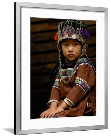 Hani People, Yuanyang, Honghe Prefecture, Yunnan Province, China-Pete Oxford-Framed Photographic Print