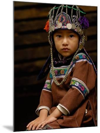 Hani People, Yuanyang, Honghe Prefecture, Yunnan Province, China-Pete Oxford-Mounted Photographic Print