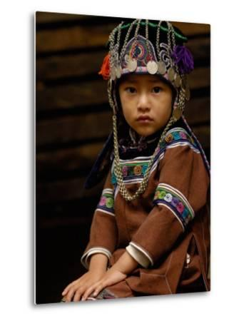 Hani People, Yuanyang, Honghe Prefecture, Yunnan Province, China-Pete Oxford-Metal Print