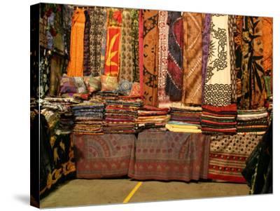 Cloth Stall, Paddy's Market, near Chinatown, Sydney, Australia-David Wall-Stretched Canvas Print