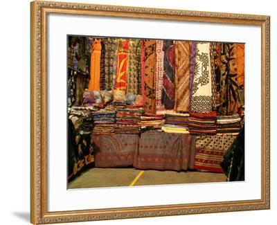Cloth Stall, Paddy's Market, near Chinatown, Sydney, Australia-David Wall-Framed Photographic Print
