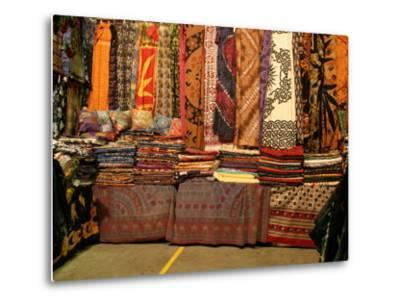 Cloth Stall, Paddy's Market, near Chinatown, Sydney, Australia-David Wall-Metal Print
