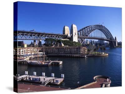 Sydney Harbor Bridge, Sydney, Australia-David Wall-Stretched Canvas Print