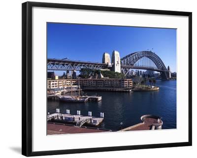 Sydney Harbor Bridge, Sydney, Australia-David Wall-Framed Photographic Print