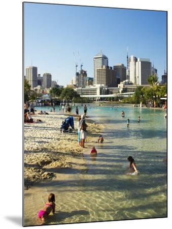 Beach, South Bank Parklands, Brisbane, Queensland, Australia-David Wall-Mounted Photographic Print