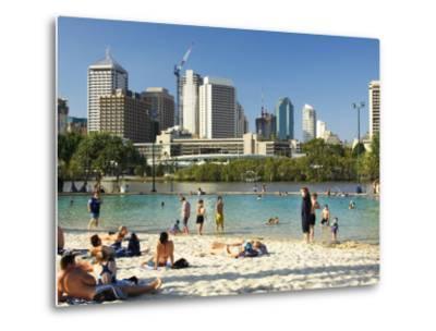 Beach, South Bank Parklands, Brisbane, Queensland, Australia-David Wall-Metal Print