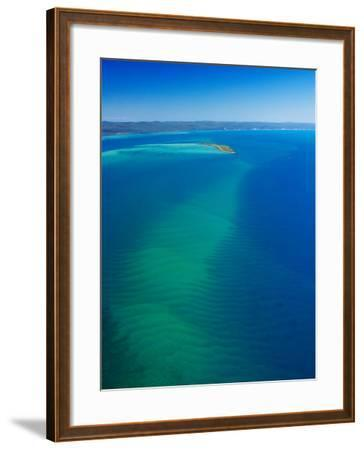 Great Sandy Straits, Little Woody Island and Fraser Island, Queensland, Australia-David Wall-Framed Photographic Print