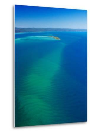 Great Sandy Straits, Little Woody Island and Fraser Island, Queensland, Australia-David Wall-Metal Print