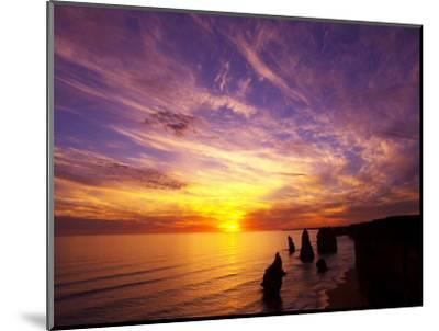Sunset, Twelve Apostles, Port Campbell National Park, Great Ocean Road, Victoria, Australia-David Wall-Mounted Photographic Print
