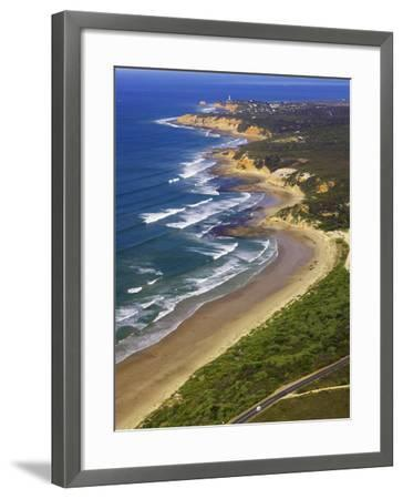 Great Ocean Road and Split Point Lighthouse, Aireys Inlet, Victoria, Australia-David Wall-Framed Photographic Print