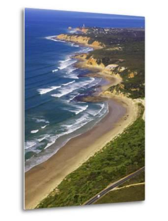 Great Ocean Road and Split Point Lighthouse, Aireys Inlet, Victoria, Australia-David Wall-Metal Print