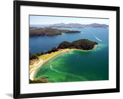 Motuarohia Island, Bay of Islands, Northland, New Zealand-David Wall-Framed Photographic Print