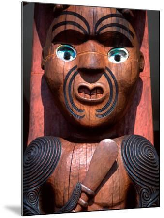 Maori Carving on Arataki Visitors Centre, Waitakere Ranges, Auckland-David Wall-Mounted Photographic Print