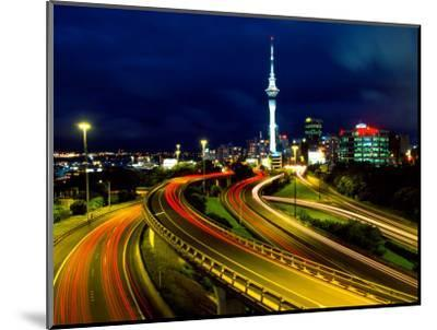 Motorways and Skytower, Auckland-David Wall-Mounted Photographic Print