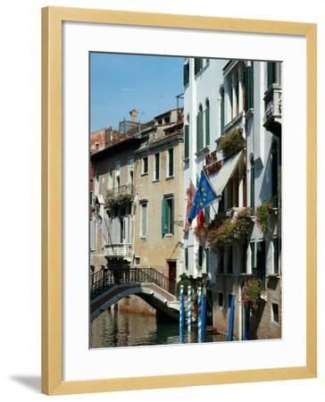 Bridge over Canal, Venice, Italy-Lisa S^ Engelbrecht-Framed Photographic Print