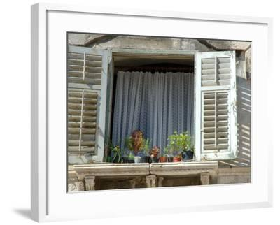 Window in Private Home, Split, Croatia-Lisa S^ Engelbrecht-Framed Photographic Print