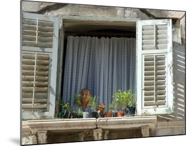 Window in Private Home, Split, Croatia-Lisa S^ Engelbrecht-Mounted Photographic Print