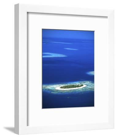 Aerial of Treasure Island Resort, Mamanuca Island Group, Fiji-David Wall-Framed Photographic Print