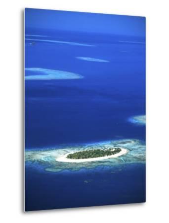 Aerial of Treasure Island Resort, Mamanuca Island Group, Fiji-David Wall-Metal Print