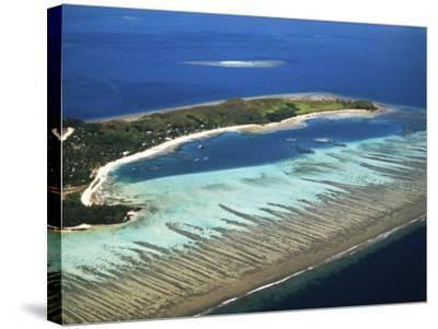 Mana Island, Mamanuca Islands, Fiji-David Wall-Stretched Canvas Print