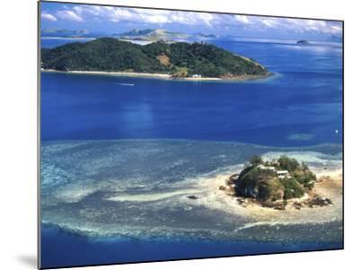 Wading Island and Castaway Island, Fiji-David Wall-Mounted Photographic Print