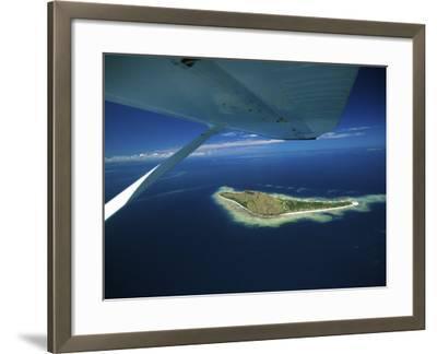 Float over Vomo Island, Fiji-David Wall-Framed Photographic Print