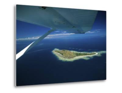 Float over Vomo Island, Fiji-David Wall-Metal Print
