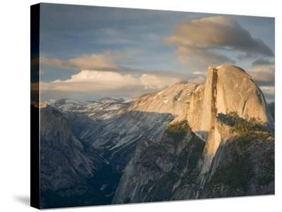 Yosemite with Half Dome. from Glacier Point. Yosemite National Park, CA-Jamie & Judy Wild-Stretched Canvas Print