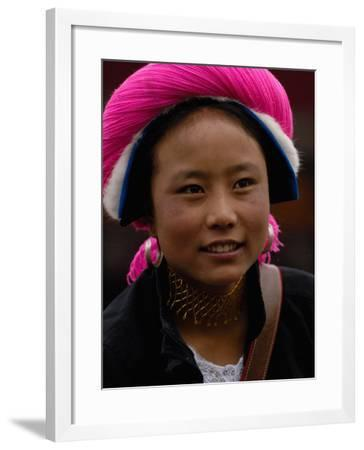 Tibetan Minority at Horse Racing Festival, Zhongdian, Deqin Tibetan Autonomous Prefecture, China-Pete Oxford-Framed Photographic Print