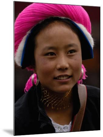 Tibetan Minority at Horse Racing Festival, Zhongdian, Deqin Tibetan Autonomous Prefecture, China-Pete Oxford-Mounted Photographic Print