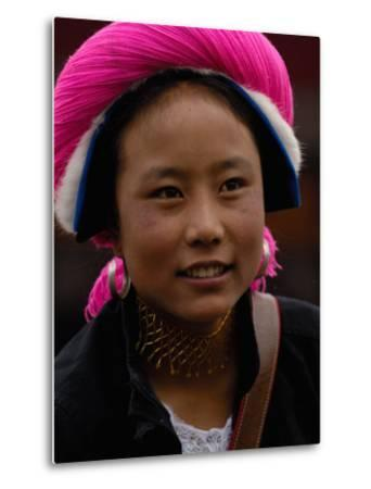 Tibetan Minority at Horse Racing Festival, Zhongdian, Deqin Tibetan Autonomous Prefecture, China-Pete Oxford-Metal Print
