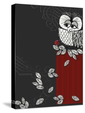 Retro Owl--Stretched Canvas Print