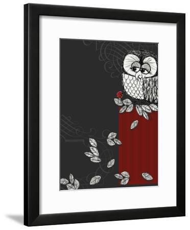 Retro Owl--Framed Photo