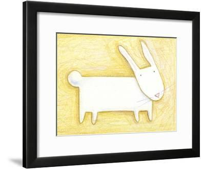 Pensive Bunny - Crayon Critter III--Framed Photo