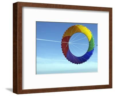 Colorful Kite Flying in Sky at Beach, Romo, Denmark-Brimberg & Coulson-Framed Photographic Print