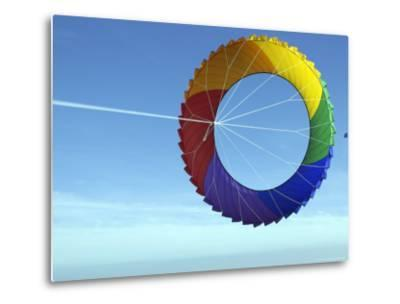 Colorful Kite Flying in Sky at Beach, Romo, Denmark-Brimberg & Coulson-Metal Print