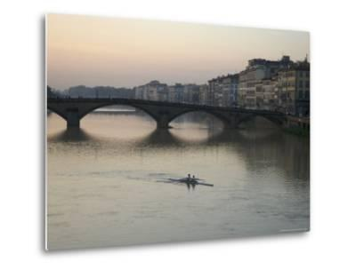 Arno River and Rowers, Florence, Italy-Brimberg & Coulson-Metal Print