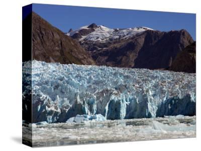 Blue Ice Along Glacier Front, Leconte Glacier, Alaska-Ralph Lee Hopkins-Stretched Canvas Print