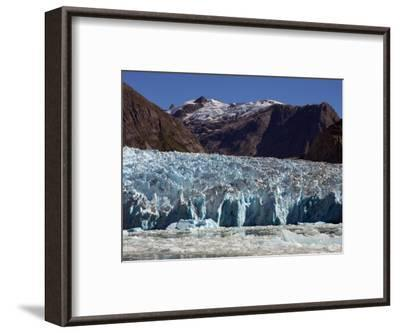 Blue Ice Along Glacier Front, Leconte Glacier, Alaska-Ralph Lee Hopkins-Framed Photographic Print
