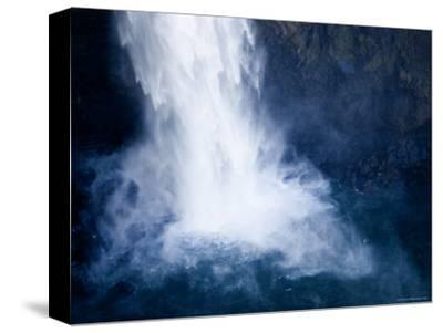 Bottom of a Waterfall-Tim Laman-Stretched Canvas Print