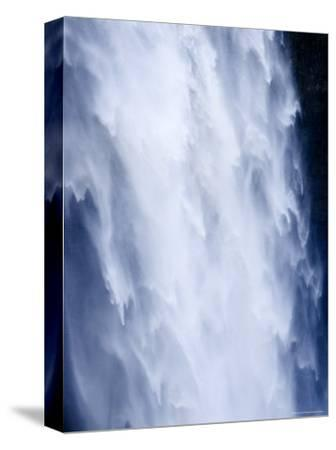 Closeup View of a Waterfall-Tim Laman-Stretched Canvas Print