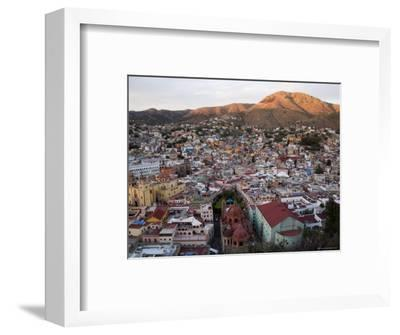 Colorful Colonial Architecture of Guanajuato Mexico at Sunset-David Evans-Framed Photographic Print
