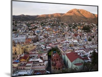 Colorful Colonial Architecture of Guanajuato Mexico at Sunset-David Evans-Mounted Photographic Print