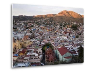 Colorful Colonial Architecture of Guanajuato Mexico at Sunset-David Evans-Metal Print