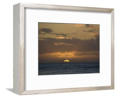 Beautiful Sunset over the Pacific Ocean, Hawaii-Stacy Gold-Framed Photographic Print