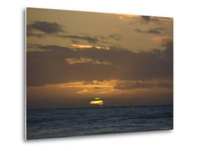 Beautiful Sunset over the Pacific Ocean, Hawaii-Stacy Gold-Metal Print